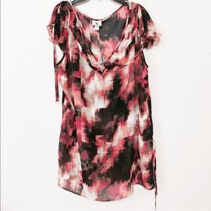 NWT Worthington Size XL sheer abstract blouse